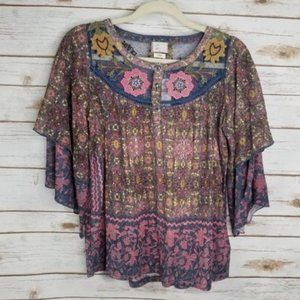 Anthropologie Embroidered Top